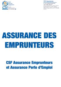 conditions générales assurance emprunteur csf