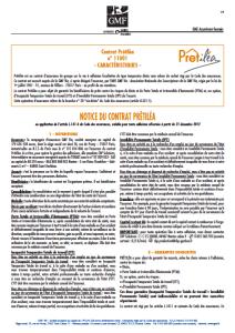 Assurance de pr t immobilier gmf - Conditions generales assurance habitation gmf ...