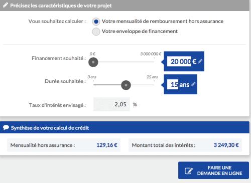 simulation crédit immobilier banque postale
