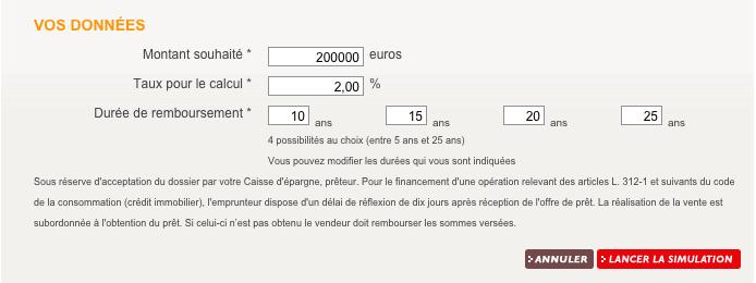 simulation caisse d'épargne